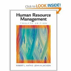 Human Resource Management by Robert L. Mathis. $6.48. Author: Robert L. Mathis. Edition - 12. Publisher: South-Western College Pub; 12 edition (September 11, 2007). 624 pages. Publication: September 11, 2007