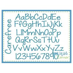 Carefree Embroidery Font