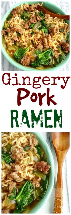 I really wanted to call this recipe life-changing Gingery Pork Ramen because honestly, it's going to rock your world. The ground pork makes it a meal and you are going to love it's awesome flavor from NoblePig.com. via @cmpollak1