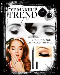 """Lana Del Rey inspired eye makeup"" by emiliegundersen ❤ liked on Polyvore"