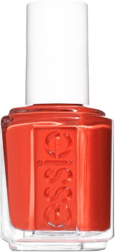 Dark Skin Nail Polish, Orange Nail Polish, Rose Nails, Pink Nails, Red Orange Nails, Essie Nail Polish, Nail Polishes, Manicure