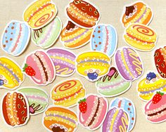 Colorful Macaron Stickers: Cute Macaron Planner Stickers, Envelope Seals, Party Favors, Erin Condren Stickers, Filofax, Kikki K, Scrapbook
