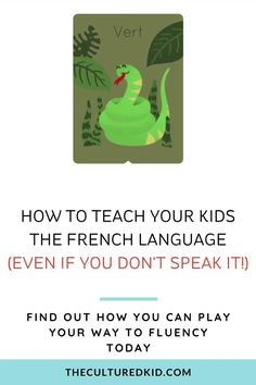 Discover how in just 5 MINUTES A DAY, you can teach your kids a foreign language - even if they're still learning to speak their first words. Teaching Kids, Kids Learning, Teachers College, Language Lessons, Second Language, Teaching French, Learn French, New Words, Languages