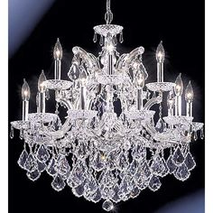"""James R. Moder Maria Theresa Grand 29"""" Wide Chandelier - #72739   Lamps Plus"""