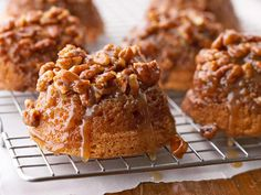 Pecan Upside-Down Baby Cakes | Better Homes and Gardens via www.seriouseats.com