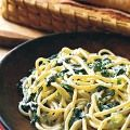 spaghetti with creamy spinach and tarragon~Italy