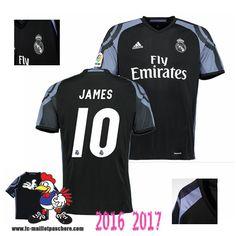 Acheter Nouveau Maillot De Foot Real Madrid Noir (JAMES 10) Third 2016-2017