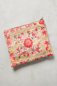 Embroidered Florella Pouch | Anthropologie