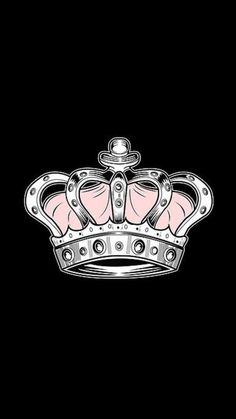 'Crown - Pink T-Shirt by Adam Santana Flowery Wallpaper, Kawaii Wallpaper, Wallpaper Backgrounds, Iphone Wallpaper, Cover Pics For Facebook, Queens Wallpaper, Canvas Prints, Art Prints, Pretty Wallpapers