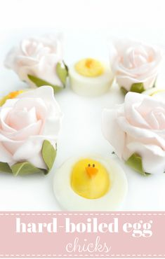 These cute hard-boiled egg chicks make the perfect appetizer, snack or brunch option for Easter. Plus they're healthy, easy and fun for both kids and adults!