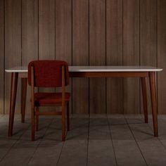 Table à manger en hêtre Tema Kann Design - blanche : Decoclico