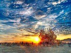 Sunrise at The Temple, Burning Man 2009 (Photo Credit: Michael Holden)