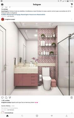 Banheiro Bathroom Mirror Design, Bathroom Inspo, Bathroom Interior, Small Bathroom, Diy Plaster, Kitchen Design, Bedroom Decor, House, Home Decor