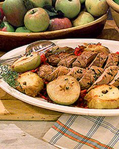 Apples paired with pork is a classic.