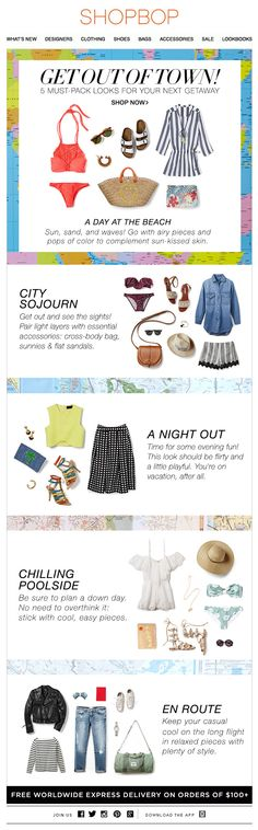 Shopbop: Planning a Trip? Pack these 5 looks