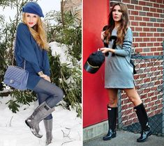 How to Wear Rubber Boots  #rainboots #fashion