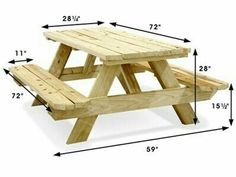 Economy A-Frame Wooden Picnic Table – – Uline Economy A-Frame Picknicktisch aus Holz – 6 & # – Uline Diy Picnic Table, Wooden Picnic Tables, Picnic Table Plans, Kids Picnic, Garden Picnic Bench, Backyard Picnic, Garden Table And Chairs, Woodworking Projects Diy, Woodworking Furniture