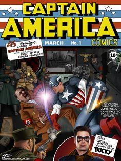 Captain America #1 (ft. Chris Evans) by andepoul.deviantart.com on @DeviantArt