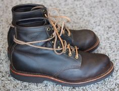 """Chippewa American Handcrafted GQ Apache Lacer 6"""" Engineer Boots Sz. 10.5 EE #Chippewa #AnkleBoots #Menswear"""