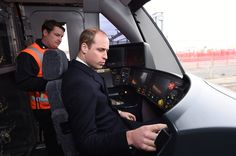 Prince William Looks Like an Excited Little Kid While Test-Driving a Train in Derby