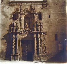 Iglesia de Santa María de Alicante.  Fachada principal Año: 1919 - Archivo Ayuntamiento.Colección: FRANCISCO RAMOS MARTÍN