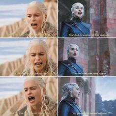 daenerys targaryen game of thrones quotes Got Game Of Thrones, Game Of Thrones Quotes, Winter Is Here, Winter Is Coming, Daenarys Targaryen, The Mother Of Dragons, King's Landing, Got Memes, Movie Facts