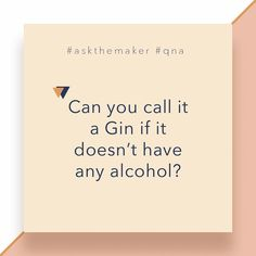 """Can you call it Gin? Let's ask the makers, Stof & Theresa: """"Well, Gin is a distilled alcoholic spirit (minimum 43%) with a distinct Juniper taste. VerGin is the distilled non-alcoholic essences of traditional Gin botanicals with a distinct Juniper taste.  Just like Gin it mixes perfectly with tonic water and is ideal for use in a variety of cocktails.  Since it doesn't have any alcohol we can't call it Gin on the label, we do think it tastes pretty similar…why don't you give it a try and let… Tonic Water, You Call, Non Alcoholic, Gin, Things To Think About, Cocktails, Label, Spirit, Cards Against Humanity"""