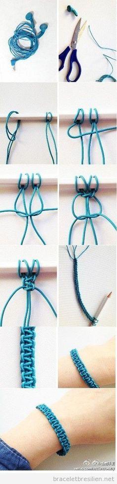 Earphone projects made of bracelet-diy - Jewelry Jewelry Crafts, Handmade Jewelry, Handmade Bracelets, Handmade Silver, Armband Diy, Bijoux Diy, Diy Accessories, Bracelet Patterns, Diy Art