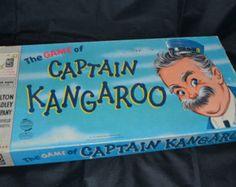 Milton Bradley The Game of Captain Kangaroo, 1956 Old Board Games, Vintage Board Games, Captain Kangaroo, Bored Games, Milton Bradley, Blue Bunny, Green Dot, Vintage Tv, Game Pieces
