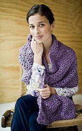 Ravelry: Tranquil Comfort Shawl pattern by Lion Brand Yarn