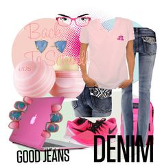 """""""Back to School Good Jeans Denim"""" by deluxephotos ❤ liked on Polyvore"""