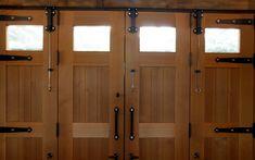 Doors — NEWwoodworks Exterior Barn Doors, Garage Exterior, Barn Siding, Garage Door Design, Best Garage Doors, Garage Gym, Cedar Door, Walnut Doors, Garage Door Makeover