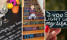 Chalk It Up: 40 Creative Ways to Use Chalkboard Paint.....Tip 7: Chalkboard Drawers: I could paint my ikea wooden 6 in 1 drawers and Write down what goes where and everyone at home will follow suit.