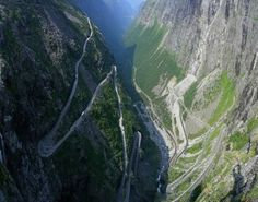 Trollstigen, Norway - a steep and winding mountain road in the Rauma region. Breathtaking views and some amazing waterfalls along the route make the challenge of driving this road well worth it.
