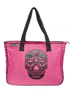 Sugar Skull Tote Pink by Sourpuss Clothing I love purses!!!