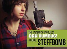 Pinback Project Bah Humbug Judge Steffbomb