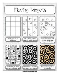 ART LESSON: OP ART USING POSITIVE & NEGATIVE SHAPES - http://TeachersPayTeachers.com