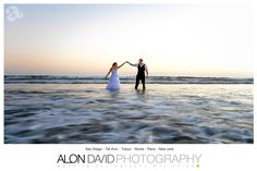 Love this image, It is done with low shutter speed to get the water softer.  It was a bit hard to make happen being that the camera is in the water with a Tripod and the Bride and the Groom can't move for about 3 sec  www.AlonDavidPhotography.com Sunset Beach Weddings, Cabo San Lucas Mexico, San Diego Beach, Beach Wedding Photography, San Diego Wedding, Shutter Speed, Tripod, Corporate Events, Destination Wedding