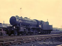 90162 WD 2-8-0 at Wakefield 22-5-66. The WDs were based on Stanier's LMSR 8F design, but simplified for fast production and easy maintainence. Photo by David. L. Quayle