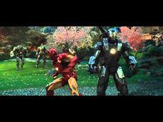 ▶ Iron Man and War Machine vs. Hammer Drones - Iron Man 2 - YouTube