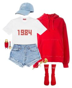 """1984"" by oh-aurora ❤ liked on Polyvore featuring adidas Originals, Gosha Rubchinskiy, Vetements, Christian Dior and Delfina Delettrez"