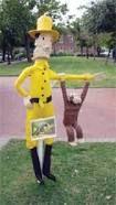 scarecrow contest -curious George
