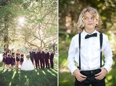 ring bearer bow tie and suspenders via Green Wedding Shoes. Great aesthetic!
