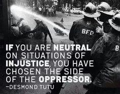 Don't be the oppressor