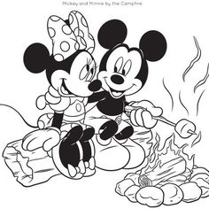 Mickey and Friends Camping Coloring Pages
