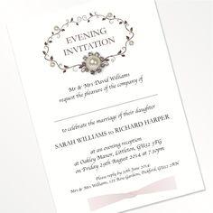 Vintage Flat Invitations