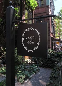 A beautifully sophisticated identity by Hovard Design for Creel and Gow, an Upper East Side boutique. #signage