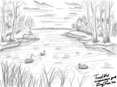 Как нарисовать природу карандашом поэтапно 5