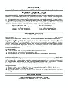 Property Manager Resume Sample Limited Properties Manag