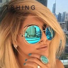 7279f63880 Vintage Oversized Round Sunglasses UV400